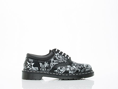 Negro Adulto Blanco Martens Derby 8053 Dr Unisex wH7R00