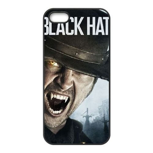 Blackhat coque iPhone 5 5S cellulaire cas coque de téléphone cas téléphone cellulaire noir couvercle EOKXLLNCD22260