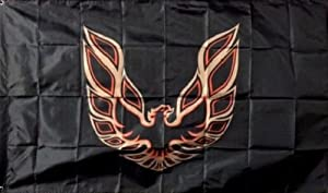 PONTIAC TRANS AM FIREBIRD PHOENIX BLACK FLAG BANNER 3X5