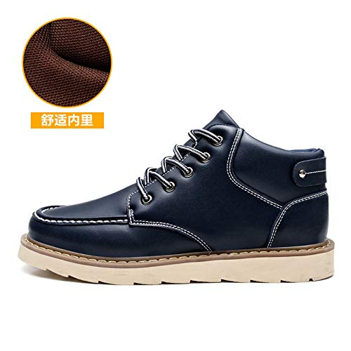 Shoes Deportivo Casual Black Breathable 43 New Calzado Masculino Azul Calzado Fashion Boots Martin Hasag 5AqPn