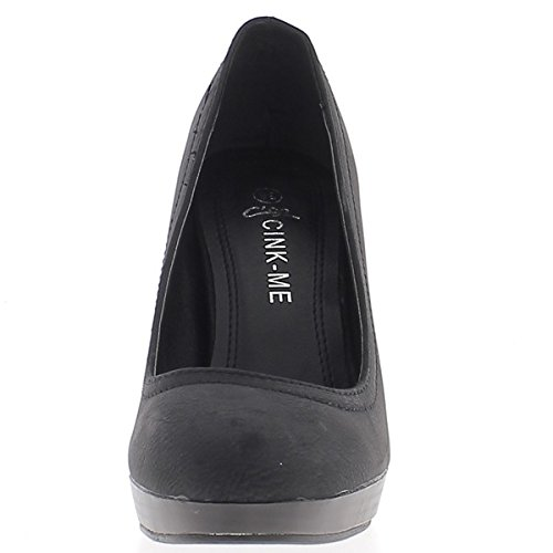 5 Absatz Wood und Schuhe Frau Matte Aspect 1 Plattform 5 10 cm cm schwarze aus Absatz OxnwFUPg
