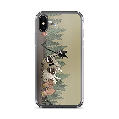 iPhone X Case iPhone Xs Case Clear Anti-Scratch Don't Starve and Don't Die, Dont Starve Cover Phone Cases for iPhone X/iPhone Xs, Crystal Clear