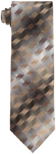 Van Heusen Men's 3d Geo Necktie, Taupe, One Size ()