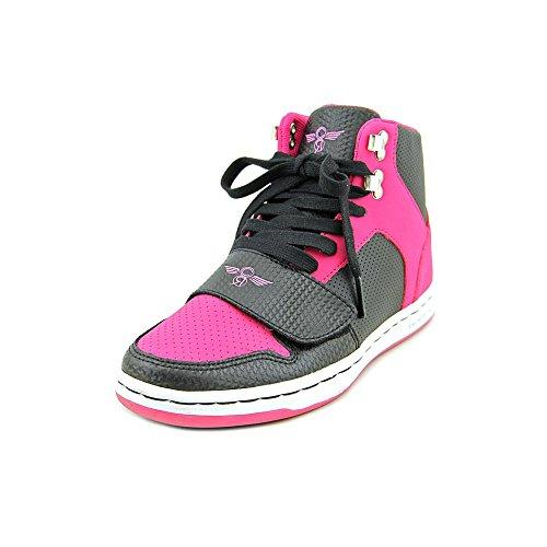 Cesario High Top - Creative Recreation Kids Girls' Cesario (Big Kid), Black/Hot Pink 4 M