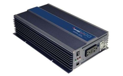 Samlex PST-2000-24 PST Series Pure Sine Wave DC-AC Power Inverter, 2000W Continuos Power Output, 3500W Surge Power Output, Wide operating DC input range 21.4 - 33.0 (20r Front Outlets)