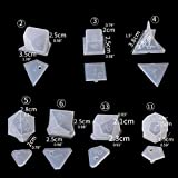 Jpwpowe Dice Molds Polyhedral Silicone, Epoxy Dice