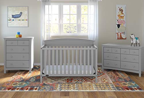 41lyiaDDJ5L - Graco Benton 4-in-1 Convertible Crib, Pebble Gray, Solid Pine And Wood Product Construction, Converts To Toddler Bed Or Day Bed (Mattress Not Included)