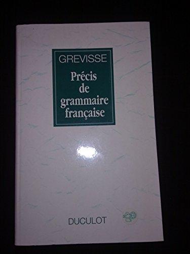 Precis De Grammaire Francaise Grevisse Pdf