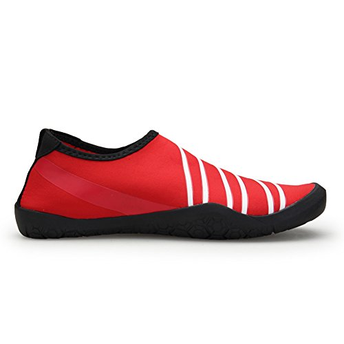 Yoga Water Quick Skin Surf Shoes Unisex for Red Swim Beach Barefoot Men's Women's Dry Shoes 7TqZWHUw