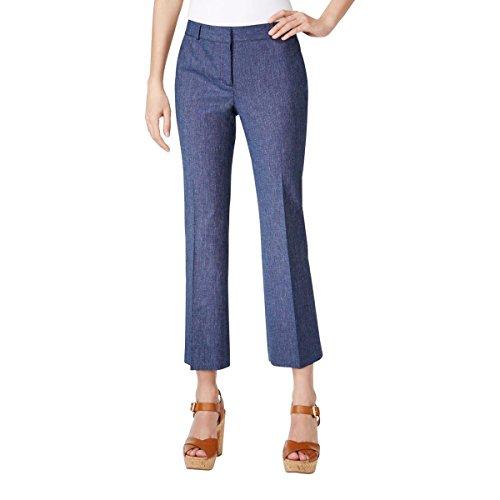 Linen Blend Cropped Pants - 6