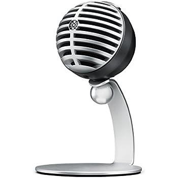 Shure MV5 Digital Condenser Microphone (Gray) + USB & Lightning Cable