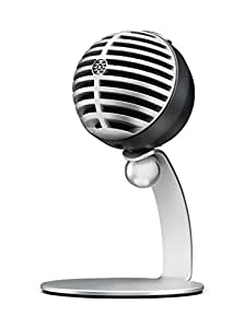 Shure MV5 Digital Condenser Microphone (Gray) + USB & Lightning Cable