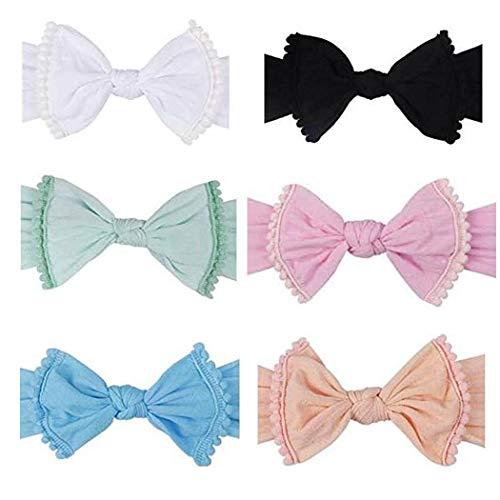Diademas de nylon para bebés con arco - Diadema para bebés para bandas para la cabeza recién nacidas y bandas para bebés