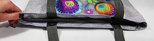 Bertoni Shopper Donna Tracolla Tessuto Stampa Kodura Motivo Soleggiato Gest