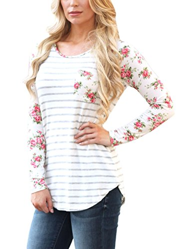 JomeDesign-Womens-Casual-Floral-Print-Long-Sleeve-Striped-Shirt-Blouse-Tops-S-XXL