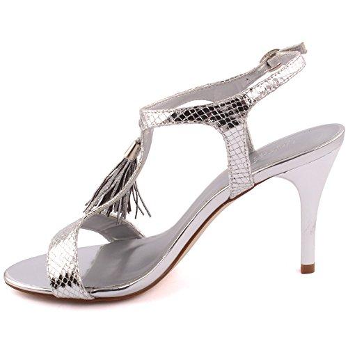 Together Carnaval Brunch Femmes Mariage Uk Chaussures Argent 8 3 Sandales 'sofia' Party Haut Talon Tassel Prom Détail Moyen Bas Get Soirée Talons Taille Unze POp7wqdO
