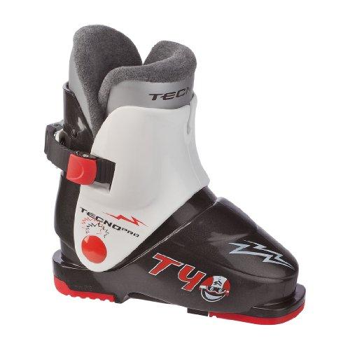 Tecno Pro T40 Kinder Skischuh schwarz / weiß / rot SCHWARZ/WEISS