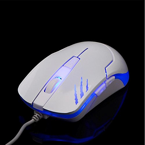 HaiZhi G2 Blue USB Cable Gaming Mice Laser 3 Color Circular Breathing Backlit 6D 2400DPI High Quality Laptop Desktop Tablet Mouse
