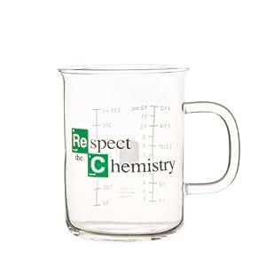 """Respect the Chemistry"" - Vaso de laboratorio inspirado en la serie Breaking Bad"