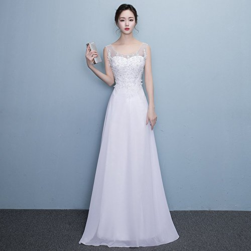 Kleid Damen Weiß Empire Drasawee Damen Drasawee xqHPIF