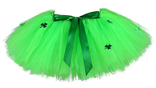 Tutu Dreams Green St Patricks Day Costume Women Shamrock Clover Sexy Tutu Skirt Dress -