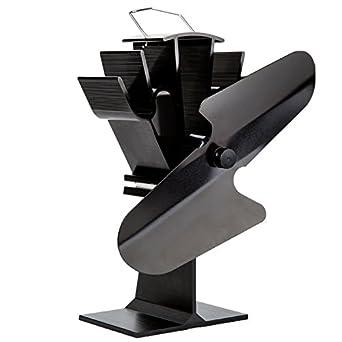 liank SF-112 ecológica Ventilador Estufa alimentado por la calor para madera/Gas/sartenes de cristales para negro: Amazon.es: Iluminación