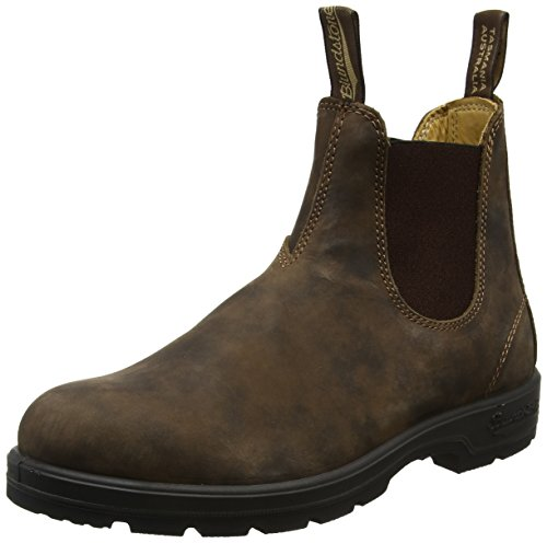 - Blundstone Unisex 585 Classic Comfort Rustic Brown Leather Boot Brown 38.5