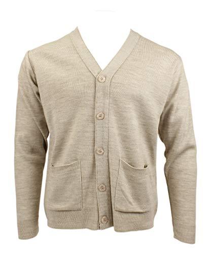 Peter England Mens Long Sleeve Button Through Plain Cardigan