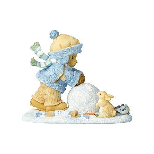 Cherished Teddies Ctres Fig Dated 2017 Making Snowman Figurine