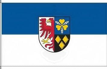 Konigsbanner Autoflagge Landkreis Stendal 30 X 45cm Flagge Und