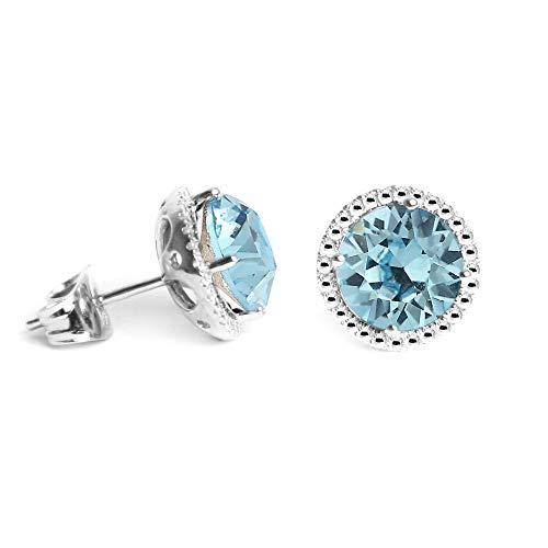 Swarovski Earrings, March Birthstone Aquamarine Color Swarovski ()