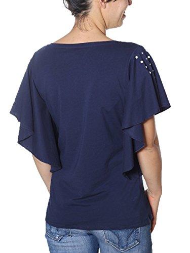 Sport Debora Manica Liu Corta T Donna Shirt Blu Jo 57WqPqwHv