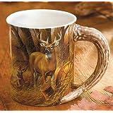 Rustic Retreat Whitetail Deer Sculpted Mug