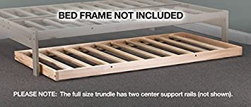 Amazon.com: Roll-away Trundle Frame - Solid Hardwood (Twin ...