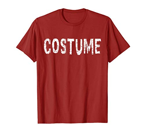 Shirt That Says Costume Cute Halloween Graphic Print -