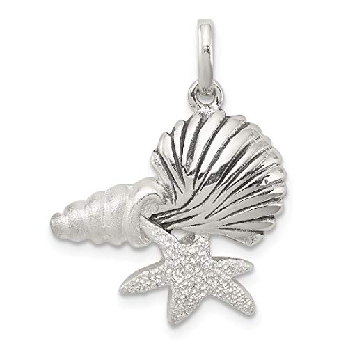925 Sterling Silver/Sea Shell Mermaid Nautical Jewelrys Pendant Charm Necklace Shore Fine Jewelry Gifts For Women For -