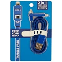 Bulk Buys 2-In-1 Multi-Head Iphone Sync/Charge Cord Overview