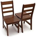 Lipper International 523-4WN Child's Chairs, Walnut, Set Of 2
