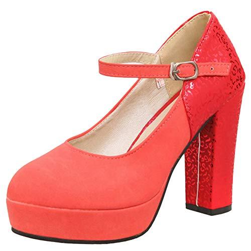 Chaussures Rouge Femme Vulusvalas Mode Mode Vulusvalas Femme Rouge Chaussures Chaussures Vulusvalas Mode RU8Cx