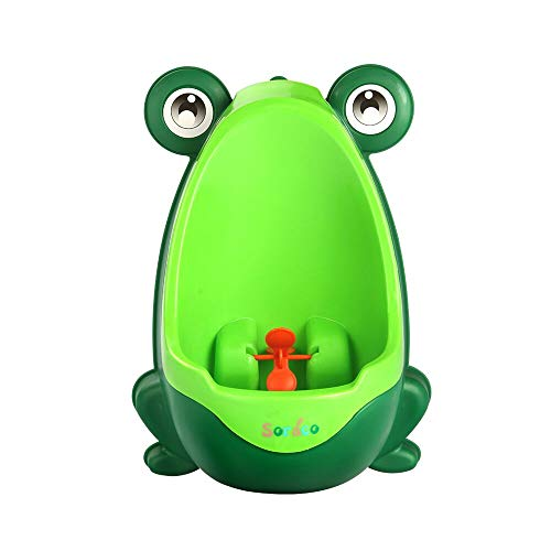 Soraco Frog Potty Training Urinal for Toddler Boys Toilet with Aiming Target - Green
