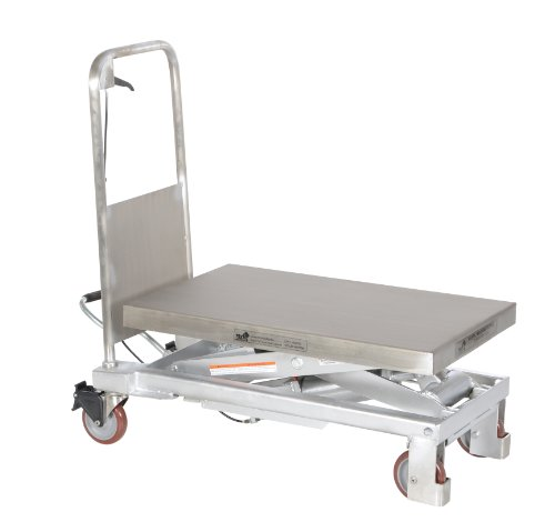 Vestil-CART-1000-PSS-Partially-Stainless-Steel-Hydraulic-Elevating-Cart-1000-lb-Capacity-32-12-x-19-34-Platform
