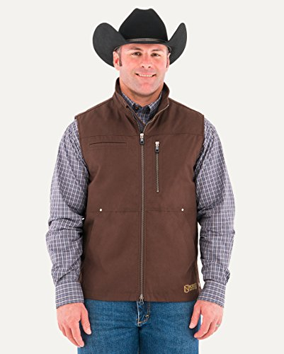 Noble Outfitters Mens Ranch Tough Canvas Vest Dark Chocolate XXX-Large