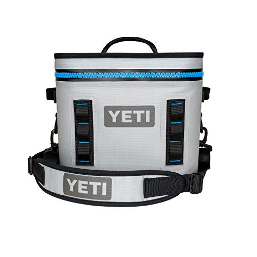 YETI Hopper Flip Portable Cooler (Flip 12 Fog Gray/Tahoe Blue)