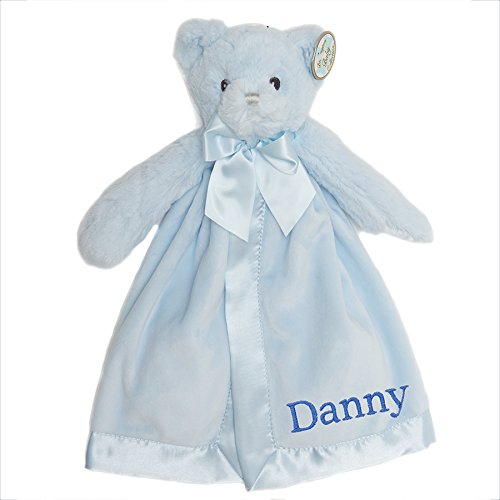 PERSONALIZED Bearington Blue Huggie Bear Snuggler Plush Velour Security Blanket~ Make it Special!