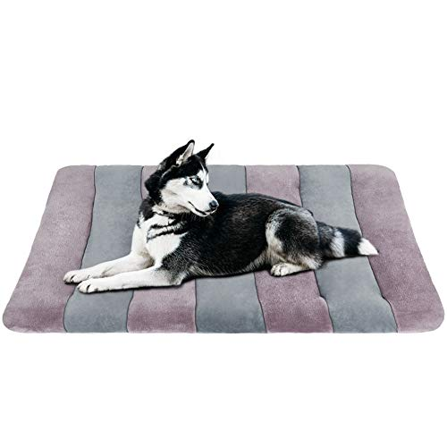 JoicyCo Medium Dog Bed Crate Pad 36 in Dog Mat 100% Washable Anti-Slip Kennel Matress Pads