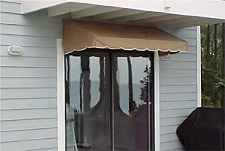 Window Awning or Door Canopy 4u0027 Wide in Sunbrella Awning Canvas - Beige : canvas door canopy - memphite.com