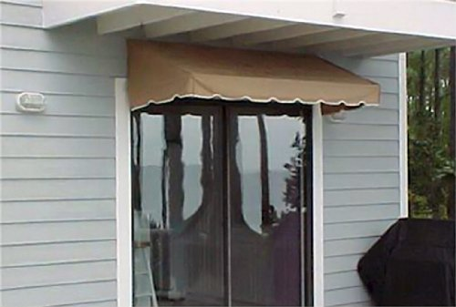 Canvas Door Awnings - Window Awning or Door Canopy 4' Wide in Sunbrella Awning Canvas - Beige