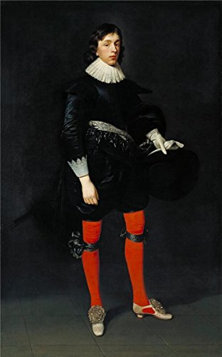 ('Daniel Mytens The Elder - Portrait Of James Hamilton, Earl Of Arran, Later 3rd Marquis And 1st Duke Of Hamilton, Aged 17' Oil Painting, 30x48 Inch / 76x122 Cm ,printed On Perfect Effect Canvas ,this Reproductions Art Decorative Prints On Canvas Is Perfectly Suitalbe For Wall Art Decoration And Home Artwork And Gifts)