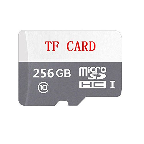 Micro SD Card 256GB, GHNBM Micro SD/HC Class 10 UHS-I High Speed Memory Card for Phone,Tablet and PCs - with Adapter (Grey/White)