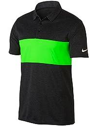 eca07791f Breathe Color Block Golf Polo 2017 Black Heather/Green Strike/White Medium